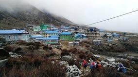 Kyanjing Gompa imagen de archivo libre de regalías