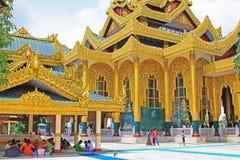 Kyauk Taw Gyi pagod, Yangon, Myanmar Royaltyfria Foton