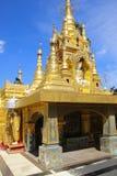 Kyauktan Ye Pagoda, Yangon river tributary,Myanmar Royalty Free Stock Photo