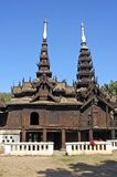 kyaung klasztoru salay yosqson Myanmar Obrazy Royalty Free