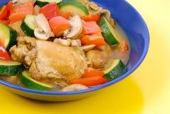 kycklinggrytagrönsak fotografering för bildbyråer