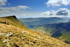 Kydsty Pike. And Riggindale Crag Royalty Free Stock Photos