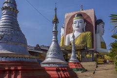 Kyeik Pun Pagoda - Bago - Myanmar (Burma) Royalty Free Stock Photography