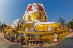 The Kyeik Pun Pagoda in Bago in Myanmar Royalty Free Stock Photography