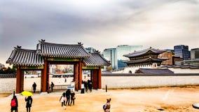 Kyeongbokgung宫殿汉城韩国 免版税库存图片