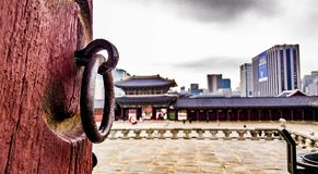 Kyeongbokgung coreano do palácio Fotografia de Stock Royalty Free