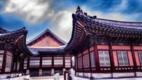 Kyeongbokgungpaleis Seoel Korea Royalty-vrije Stock Foto