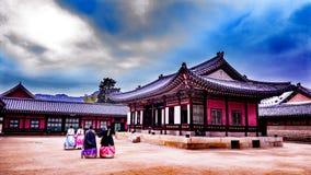 Kyeongbokgungpaleis Seoel Korea Stock Afbeelding