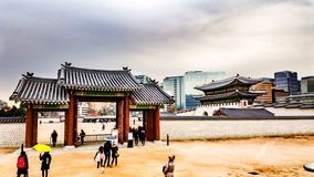 Kyeongbokgungpaleis Seoel Korea Royalty-vrije Stock Afbeeldingen