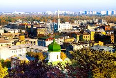 Kyev-Stadtbild, Ansicht von Kontraktova-Quadrat lizenzfreie stockfotos