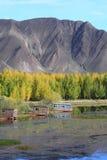 kyi кабин около реки Стоковые Изображения RF