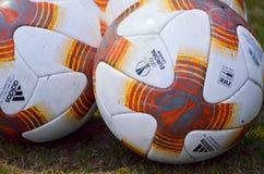 KYIV,乌克兰- 2018年3月15日, :正式足球  免版税库存图片