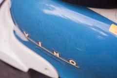 KYIV,乌克兰- 2017年5月29日:山叶酒-一辆减速火箭的滑行车的题字 库存照片