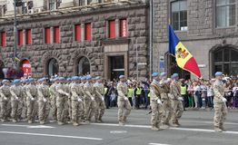 KYIV, ΟΥΚΡΑΝΊΑ - 24 ΜΑΐΟΥ 2017: Στρατιωτική παρέλαση σε Kyiv που αφιερώνεται στη ημέρα της ανεξαρτησίας της Ουκρανίας, 26η επέτει Στοκ Εικόνες