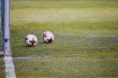 KYIV, ΟΥΚΡΑΝΊΑ - 15 Μαρτίου 2018: Η επίσημη σφαίρα ποδοσφαίρου Στοκ Εικόνες