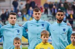KYIV, ΟΥΚΡΑΝΊΑ - 10 Οκτωβρίου 2017: Ολλανδικός ποδοσφαιριστής du στοκ εικόνες