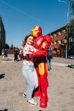 KYIV, ΟΥΚΡΑΝΊΑ - 9 ΣΕΠΤΕΜΒΡΊΟΥ 2018: Άτομο cosplayer π σιδήρου θαύματος ` s στοκ φωτογραφία με δικαίωμα ελεύθερης χρήσης