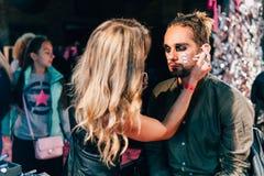 KYIV, ΟΥΚΡΑΝΊΑ - 9 ΣΕΠΤΕΜΒΡΊΟΥ 2018: Ατόμων makeup σε κωμικό Con Ukra στοκ εικόνες με δικαίωμα ελεύθερης χρήσης