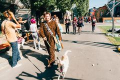 KYIV, ΟΥΚΡΑΝΊΑ - 9 ΣΕΠΤΕΜΒΡΊΟΥ 2018: Γενική φωτογραφία σε κωμικό Con UK στοκ εικόνες