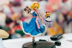 KYIV, ΟΥΚΡΑΝΊΑ - 9 ΣΕΠΤΕΜΒΡΊΟΥ 2018: Ειδώλια Anime σε κωμικό Con στοκ εικόνες