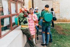 KYIV, ΟΥΚΡΑΝΊΑ - 9 ΣΕΠΤΕΜΒΡΊΟΥ 2018: Εφηβικές χελώνες Ninja μεταλλάξεων στοκ εικόνα