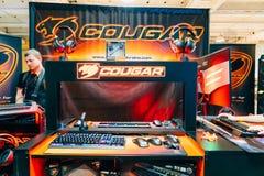 KYIV, ΟΥΚΡΑΝΊΑ - 9 ΣΕΠΤΕΜΒΡΊΟΥ 2018: Συσκευές τυχερού παιχνιδιού Cougar σε Comi στοκ εικόνες