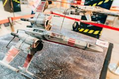 KYIV, ΟΥΚΡΑΝΊΑ - 9 ΣΕΠΤΕΜΒΡΊΟΥ 2018: Τέχνη του Star Wars σε κωμικό Con στοκ εικόνα