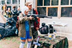 KYIV, ΟΥΚΡΑΝΊΑ - 9 ΣΕΠΤΕΜΒΡΊΟΥ 2018: Τοποθέτηση Cosplayers στο κωμικό κοβάλτιο στοκ εικόνες