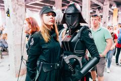 KYIV, ΟΥΚΡΑΝΊΑ - 9 ΣΕΠΤΕΜΒΡΊΟΥ 2018: Cosplayers του Star Wars που θέτουν το α στοκ φωτογραφίες με δικαίωμα ελεύθερης χρήσης