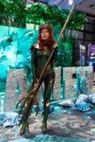 KYIV, ΟΥΚΡΑΝΊΑ - 9 ΣΕΠΤΕΜΒΡΊΟΥ 2018: Cosplayers Aquaman που θέτουν στοκ φωτογραφία