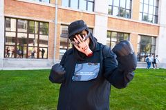 KYIV, ΟΥΚΡΑΝΊΑ - 9 ΣΕΠΤΕΜΒΡΊΟΥ 2018: Cosplayers Facepalm που θέτουν στοκ φωτογραφία με δικαίωμα ελεύθερης χρήσης
