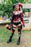 KYIV, ΟΥΚΡΑΝΊΑ - 9 ΣΕΠΤΕΜΒΡΊΟΥ 2018: Harley Quinn cosplayer που θέτει στοκ φωτογραφίες