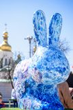 KYIV, ΟΥΚΡΑΝΊΑ ΣΤΙΣ 7 ΑΠΡΙΛΊΟΥ 2018: Ετήσια έκθεση Πάσχας που πραγματοποιείται στο κέντρο της πόλης Οι καλλιτέχνες παρουσιάζουν χ Στοκ φωτογραφίες με δικαίωμα ελεύθερης χρήσης