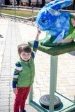 KYIV, ΟΥΚΡΑΝΊΑ ΣΤΙΣ 7 ΑΠΡΙΛΊΟΥ 2018: Ετήσια έκθεση Πάσχας που πραγματοποιείται στο κέντρο της πόλης Οι καλλιτέχνες παρουσιάζουν χ Στοκ εικόνα με δικαίωμα ελεύθερης χρήσης