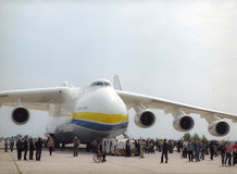 KYIV, ΟΥΚΡΑΝΊΑ 28 ΣΕΠΤΕΜΒΡΊΟΥ: Antonov 225   Στοκ εικόνα με δικαίωμα ελεύθερης χρήσης