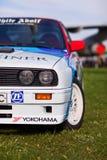 KYIV, УКРАИНА - 22-ое апреля 2016: BMW e30 M3 автомобиля на фестивале винтажных автомобилей OldCarLand-2016 в Киеве Взгляд со сто Стоковое фото RF