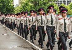 KYIV, УКРАИНА - 26-ое мая 2017: Церемония по случаю конца академического года в лицее Киева воинском Ивана Bohun стоковое изображение rf