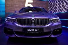 Kyiv, Украина - 5-ое февраля 2017: Дисплей BMW5er как часть Ukra Стоковые Изображения RF