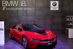 Kyiv, Украина - 4-ое февраля 2017: Дисплей BMW i8 как часть Ukra Стоковые Изображения RF