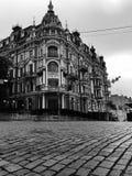 Kyiv -乌克兰的中心的一个黑白图象 库存照片