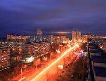 Kyiv bij nacht Beeld van Kyiv de stad in bij nacht Royalty-vrije Stock Foto's