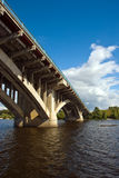 Kyiv. Bridge via Dnipro river Stock Photography