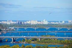 Kyiv bridges overview, Ukraine Stock Images