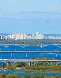 Kyiv bridges, Ukraine Stock Photo