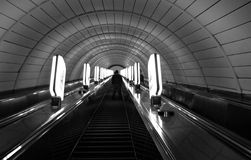 Kyiv, the capital city of Ukraine, escalator (Kiev) Stock Photography