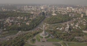 Kyiv, the capital of Ukraine. Kyiv. Motherland Monument, The soviet era monument, located on the bank of Dnieper River. Kiev, Ukra stock footage
