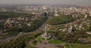 Kyiv, the capital of Ukraine. Kyiv. Motherland Monument, The soviet era monument, located on the bank of Dnieper River. Kiev, Ukra. Ine stock footage