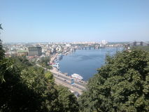 Kyiv city. Kyiv city from above. magnificent river Dnepr stock images