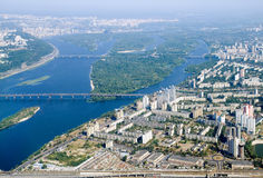 Kyiv city - aerial view. Stock Photo