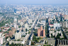 Kyiv city - aerial view. Royalty Free Stock Images